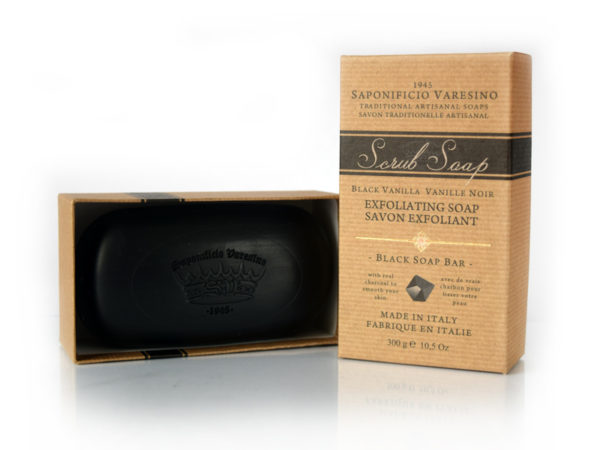 Black Vanilla Scrub Soap 300g